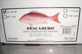 red snapper box